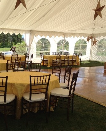 Reception in Tent with Dancefloor